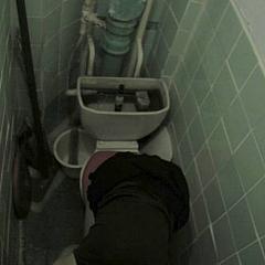 Voyeur latrine.