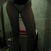 Hidden throne room voyeur webcam takes shots of honey getting willing for checking out the bowl.