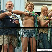 Juvenile ladies shows mambos at Mardi Gras.