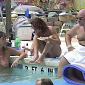 Pool intimate family naturist.