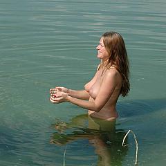 Voyeur swimming.
