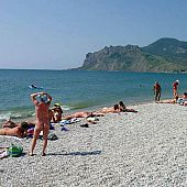 Lots of nudists visited this popular bare beach final summer.