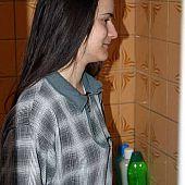 Czech sweetheart caught shower.