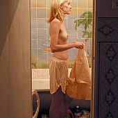 Teenager blond shower skinny.